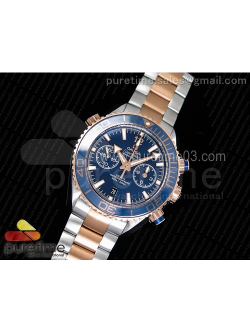 Planet Ocean Master Chronometer OMF SS/RG Blue Pol...
