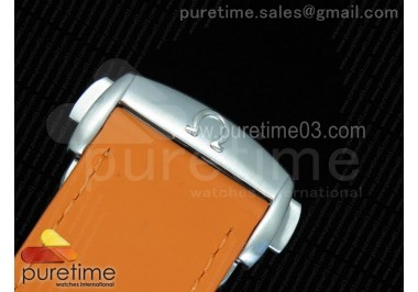 Planet Ocean Professional Orange Bezel 45mm 1:1 OMF Best Edition on Rubber Strap A8500 (Black Balance Wheel)