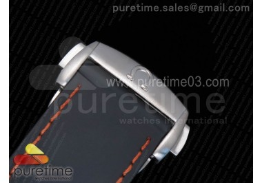 Planet Ocean Professional Ceramic Bezel 45mm 1:1 OMF Best Edition Orange Marker on Rubber Strap A8500 (Black Balance Wheel)