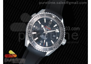 Planet Ocean Professional Ceramic Bezel 45mm 1:1 OMF Best Edition on Rubber Strap A8500 (Black Balance Wheel)