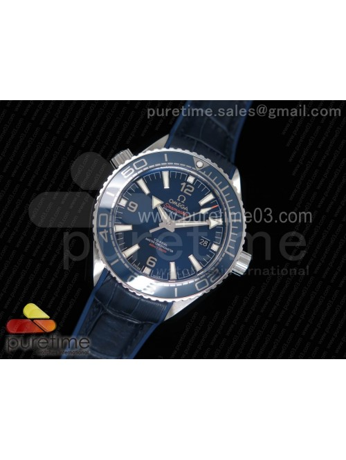 Planet Ocean 42mm SS OMF 1:1 Best Edition Blue Liq...