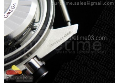 Planet Ocean Master Chronometer Chrono SS Black Bezel Black Dial on Gray Border Black Nylon Strap A9900