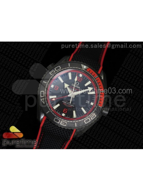 Planet Ocean 600M Deep Black Red GMT PVD on Black ...