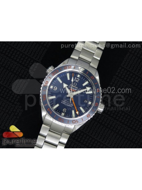 Planet Ocean GMT 43.5mm Goodplanet Blue Bezel Oran...