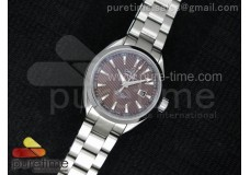 Aqua Terra Ladies SS V6F Brown Textured Dial on SS...