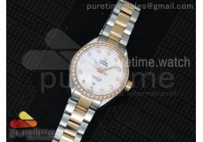 Aqua Terra Ladies SS V6F White Dial Diamonds Bezel...
