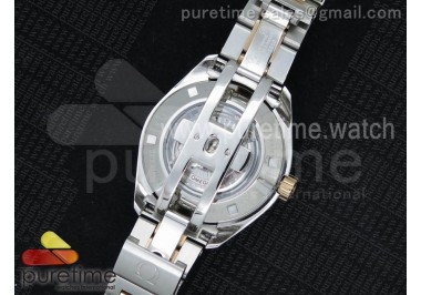 Aqua Terra Ladies SS V6F White Dial Diamonds Bezel on SS/RG Bracelet A8520