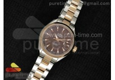 Aqua Terra Ladies SS V6F Brown Dial RG Bezel on SS...