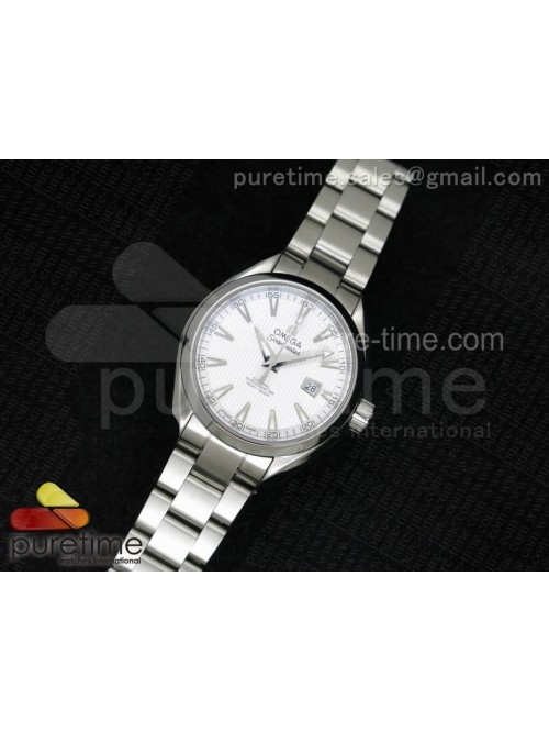Aqua Terra Ladies SS V6F White Textured Dial on SS...