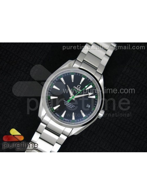 Aqua Terra 150M SS 1:1 Best Edition Black Textured...
