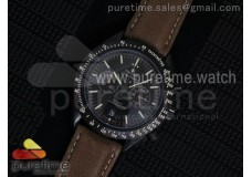 Speedmaster Co-Axial Chrono PVD Black Dial on Brow...