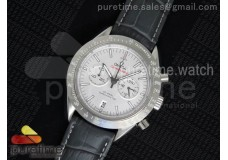 Speedmaster Co-Axial Chrono SS SS Bezel White Dial...