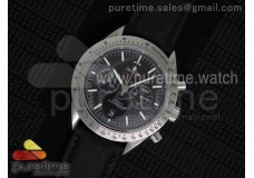 Speedmaster Co-Axial Chrono SS SS Bezel Black Dial...